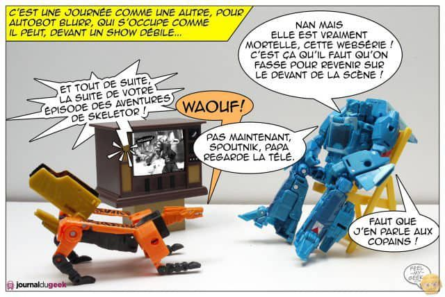 Le webcomic Transformers par le Journal du Geek - Content Marketing