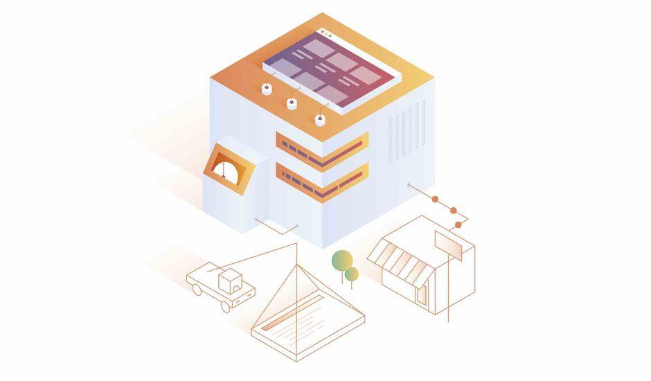 Datacenter illustré de cloudflare.