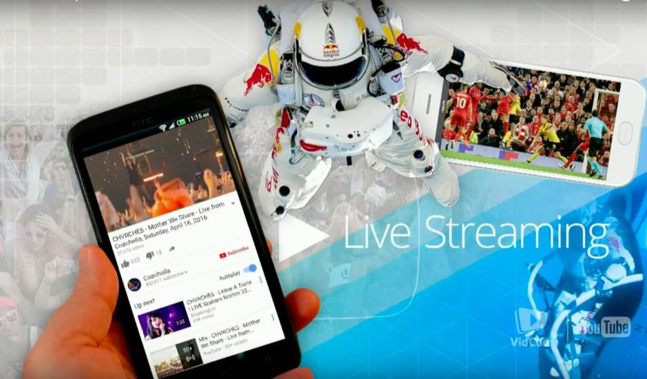YouTube Livestreaming mobile