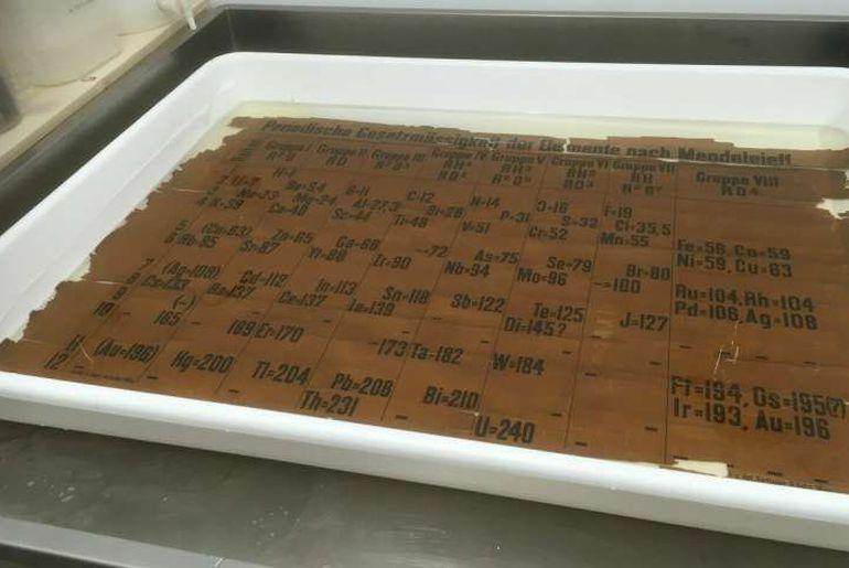 tableau périodique écosse 150 ans 1885 le plus ancien du monde Saint Andrews