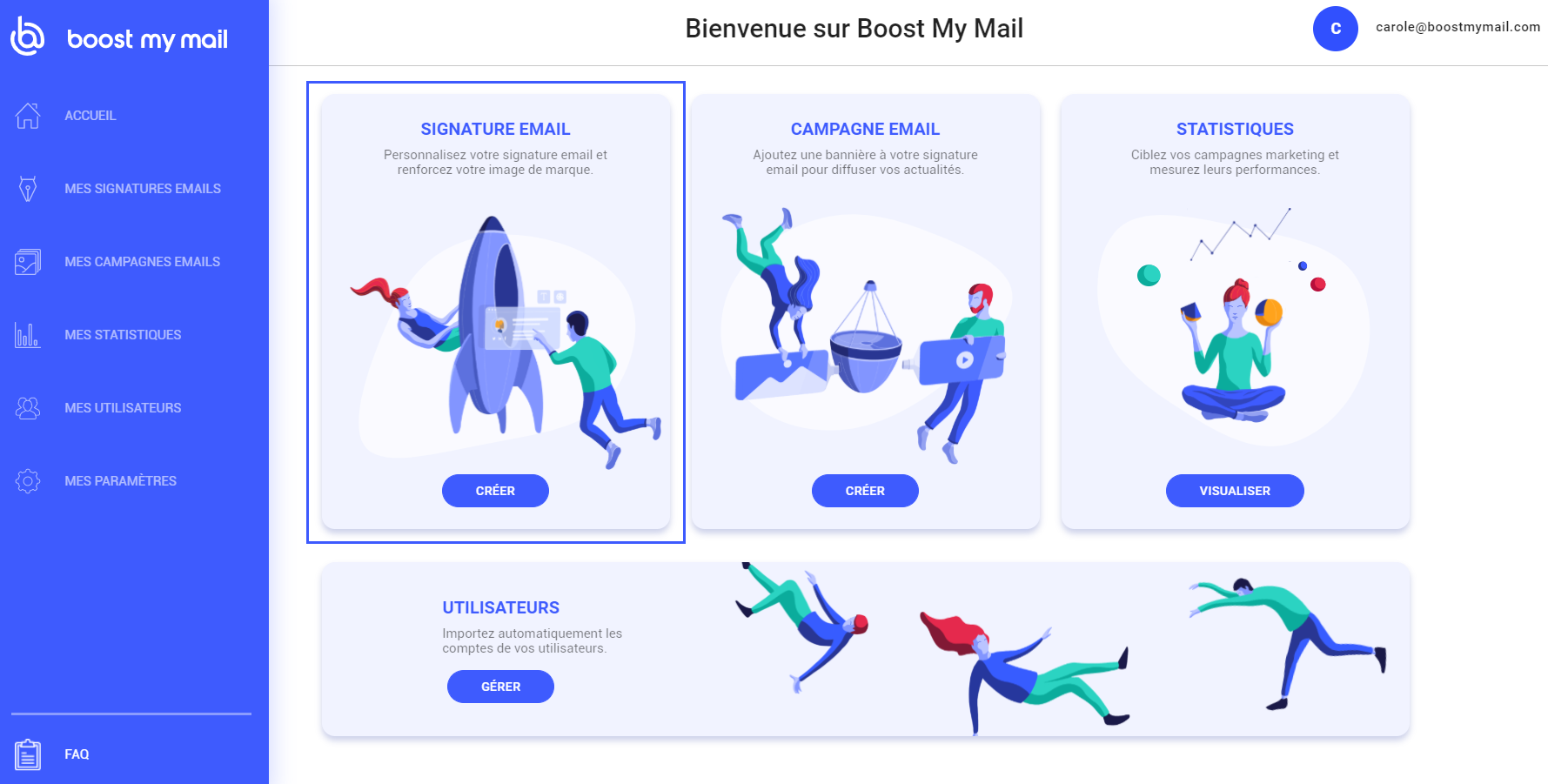 boostmymail signature email entreprise