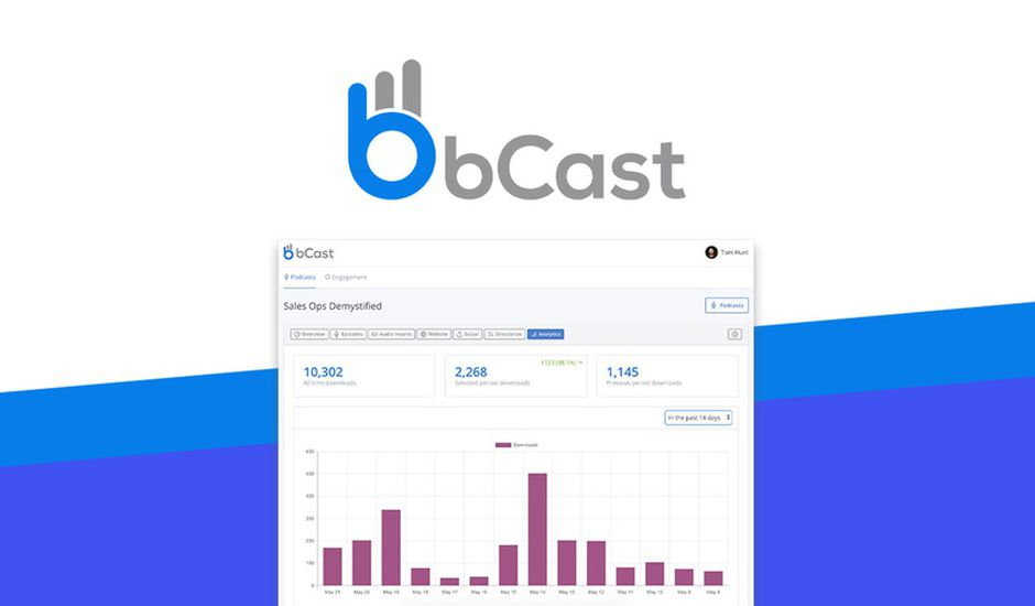 logo de bCast et onglet analytics
