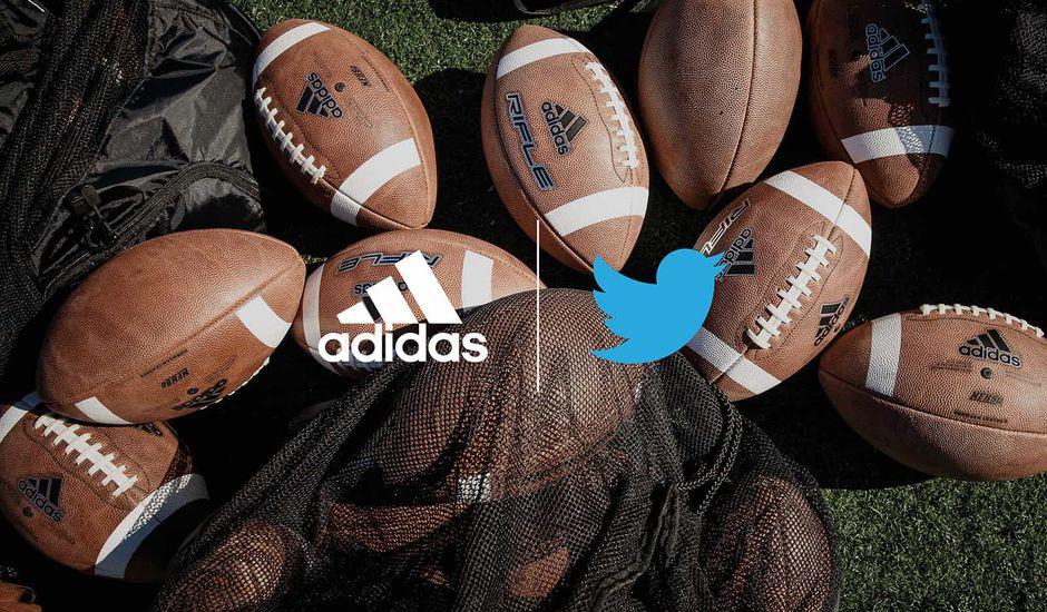 Twitter et Adidas annoncent un partenariat pour diffuser des matchs de foot US de certains lycées américains