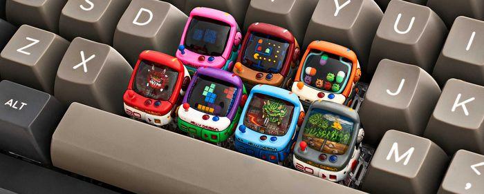Touches de clavier en forme de bornes d' arcade par Jelly Key