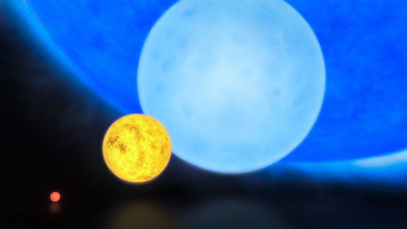 Les chercheurs ont observé une géante bleue qui orbitait autour du trou noir.