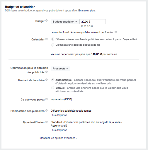 acquisition-de-leads-facebook-budget