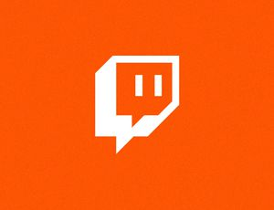 Soundcloud : le logo de Twitch sur fond orange.