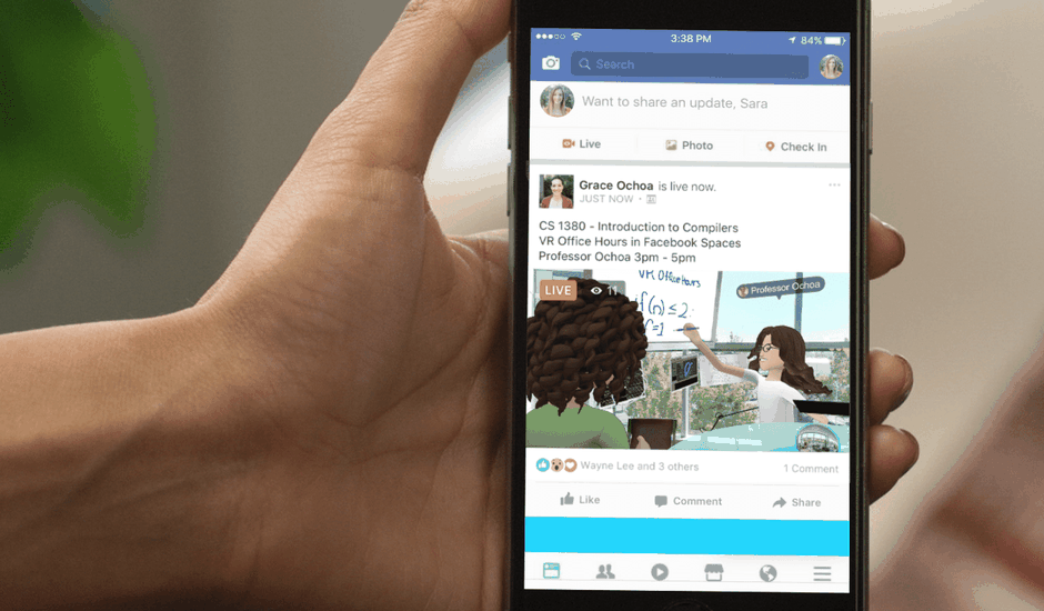 Facebook Spaces Live