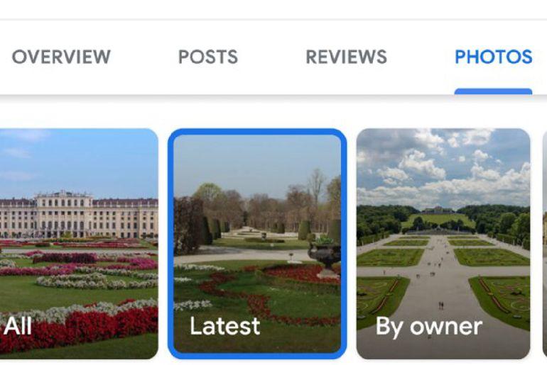 Nouvelle disposition des photos sur Google Maps