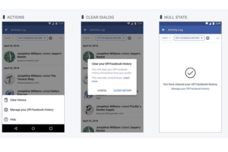 Facebook supprimer historique F8