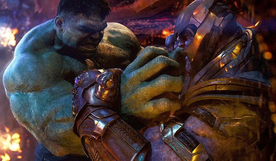 hulk vs thanos avengers endgame