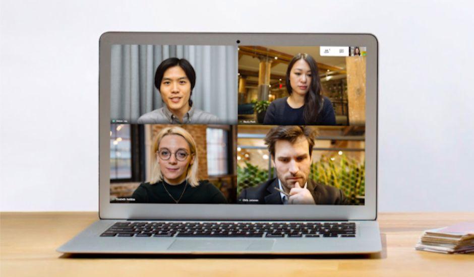 Google Meet photographie d'un échange en ligne