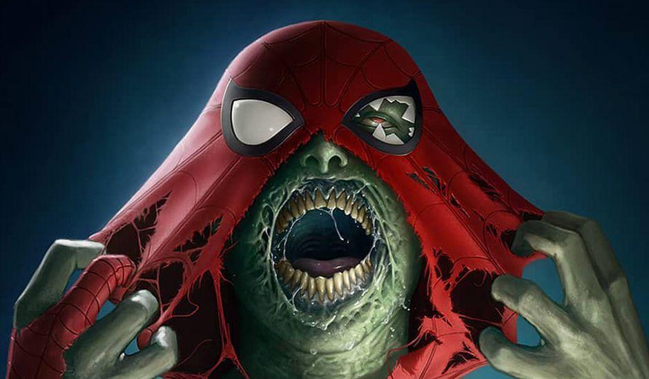 super-héros marvel et dc comics en mode zombies