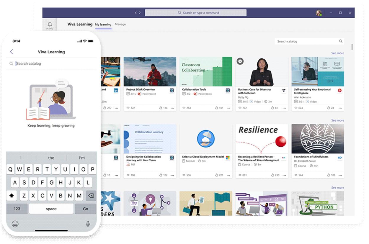 Aperçu de Viva Learning dans Microsoft Teams