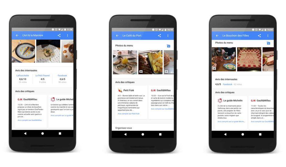 avis restaurant google