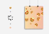 Exemple de création faite sur Background Generator