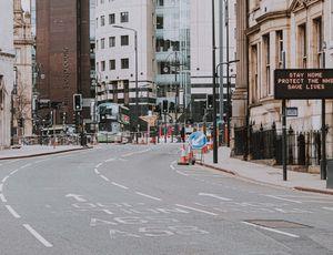 Une rue vide pendant le confinement