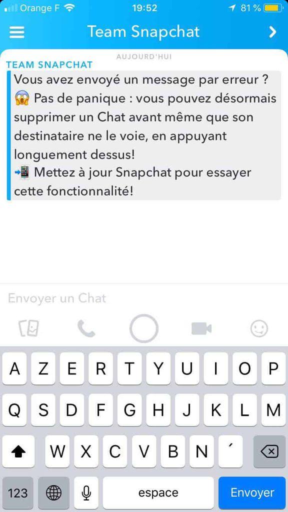 Snapchat lance Clear Chats pour supprimer des messages, même une fois lus