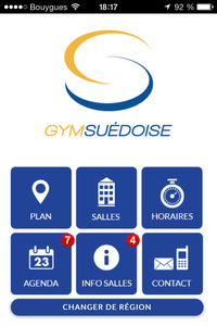 Site mobile La Gym Suedoise