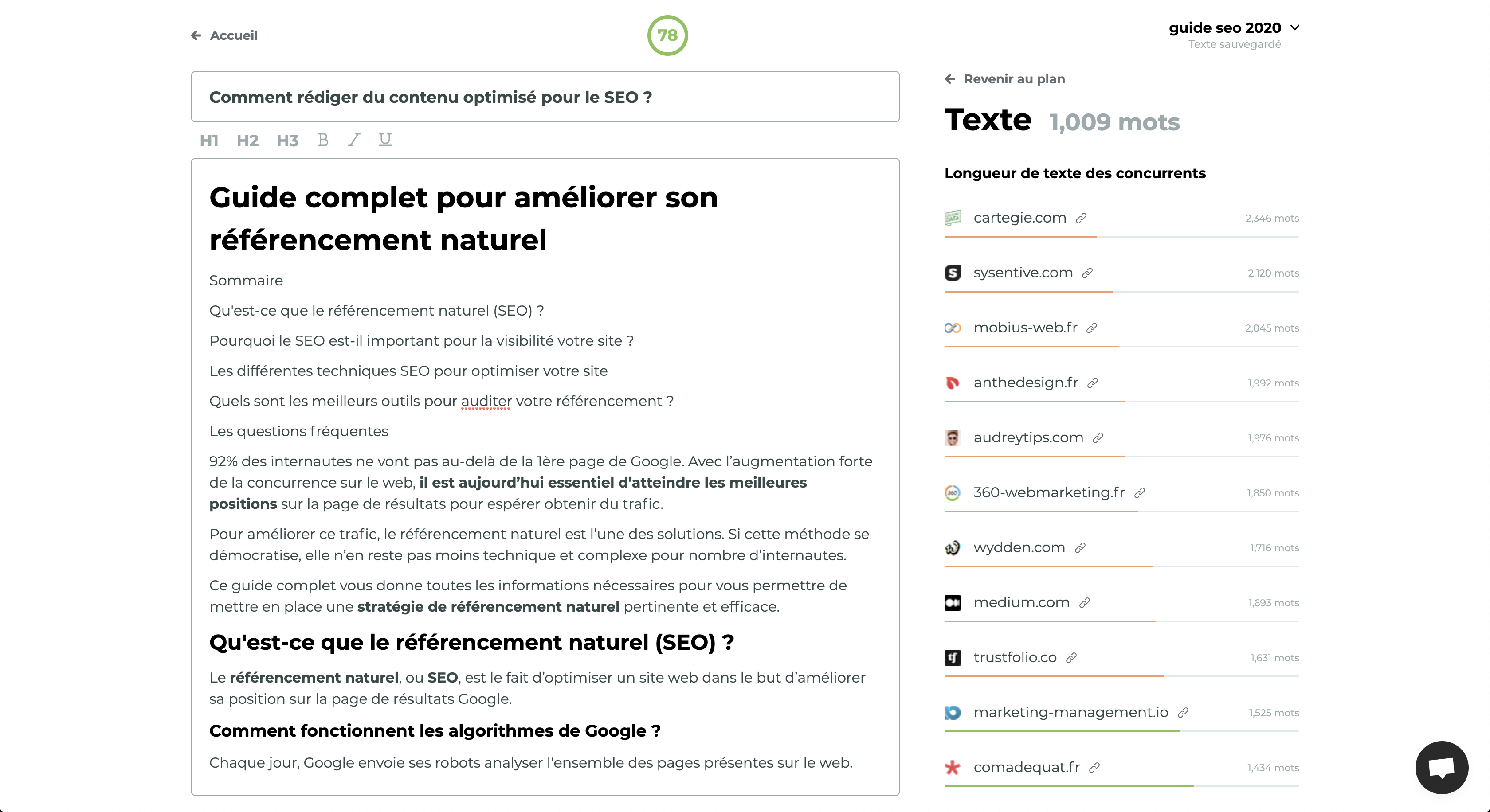analyser ses concurrents seo