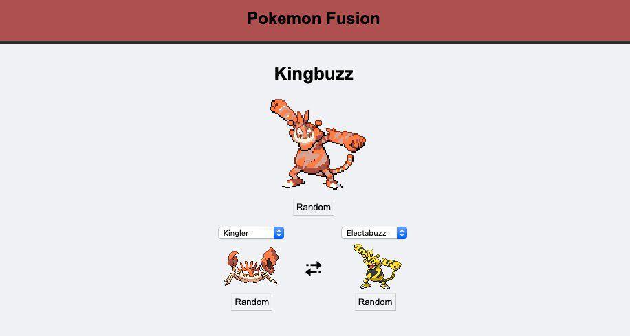Pokémon Fusion pour mélanger des Pokémon
