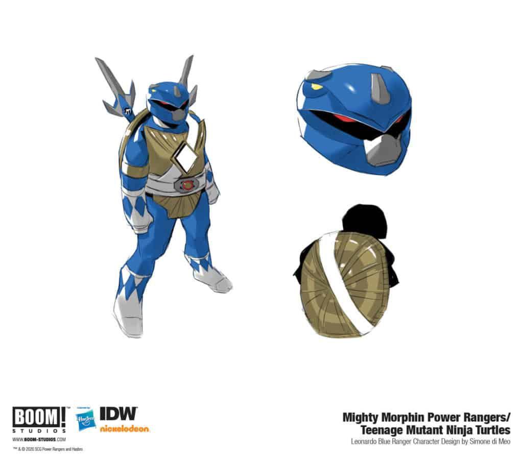 leonardo ranger bleu tortues ninja crossover