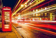Une cabine téléphonique au Royaume-Uni.