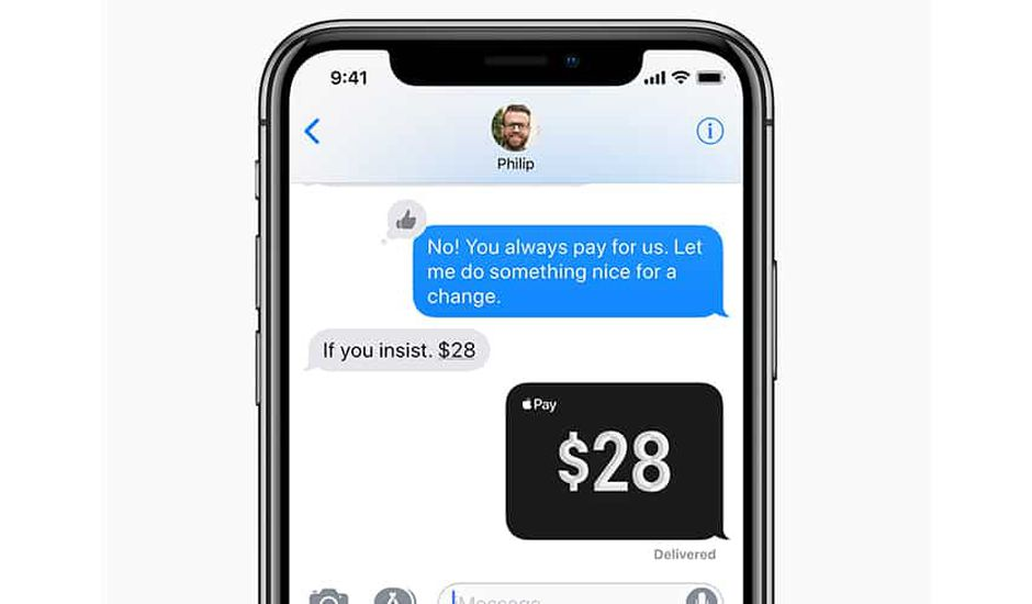 apple pay transfert argent contact