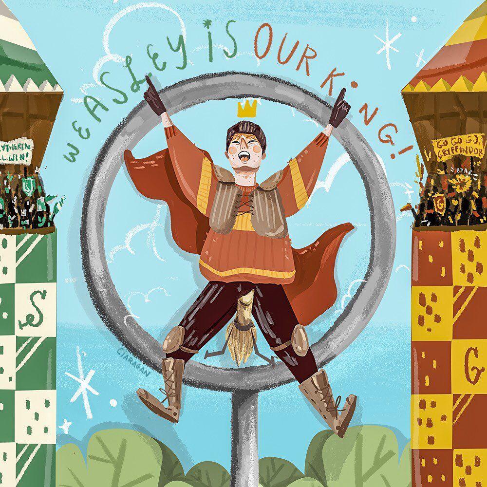 fanart ron weasley quidditch