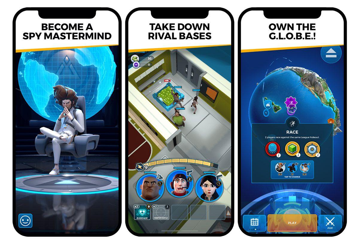 "Captures d'écran du jeu vidéo ""Spyjinx""."