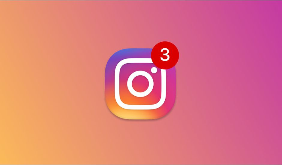 Logo instagram et notifications