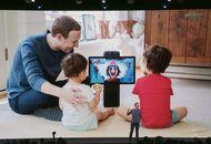Mark Zuckerberg utilisant un Facebook Portal avec ses enfants