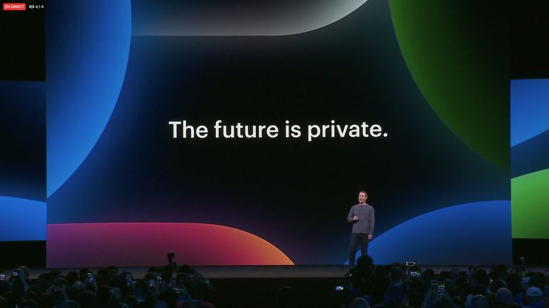 Phrase-clé pour l'intervention de Mark Zuckerberg au F8 : the future is private