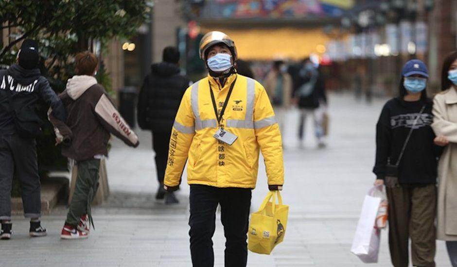 Un livreur Meituan en Chine.