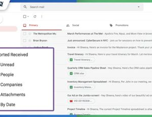 sort gmail inbox