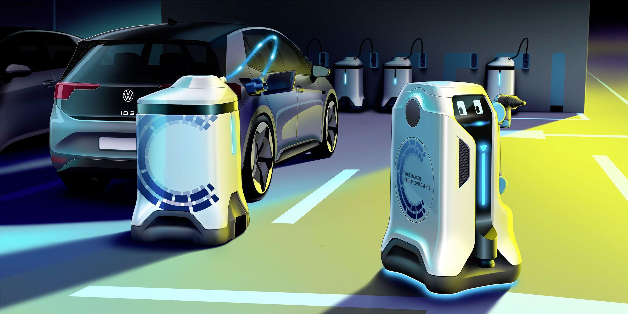 Un robot de recharge autonome.