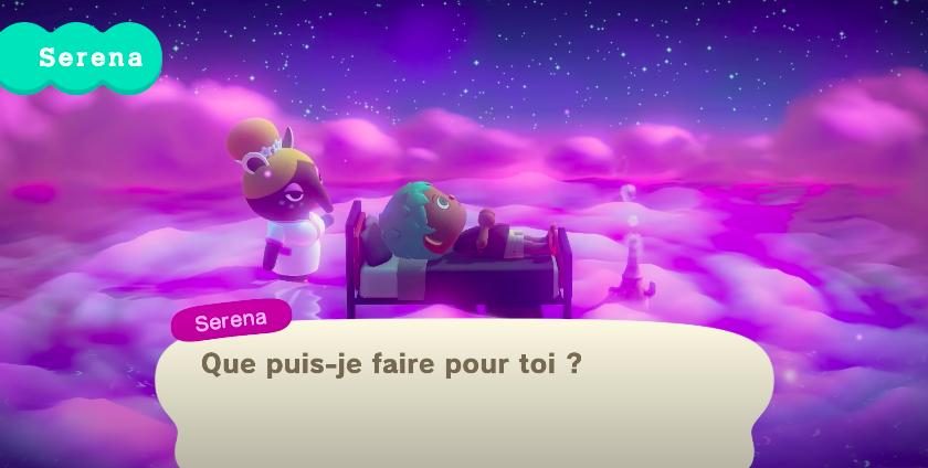 Rencontre avec Serena dans Animal Crossing : New Horizons