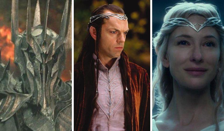 Sauron, Elrond et Galadriel dans la saga Le Seigneur des Anneaux