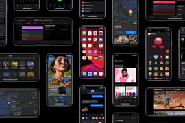 aperçu du dark mode sur iOS 13