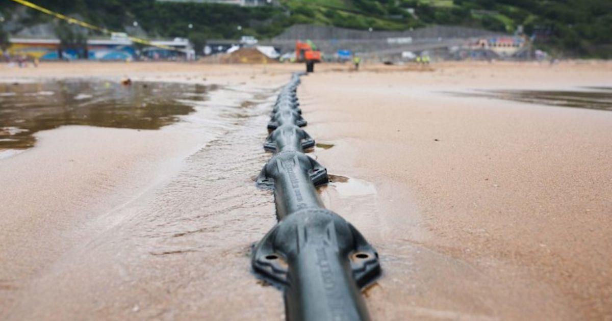 Aperçu d'un câble sous-marin.