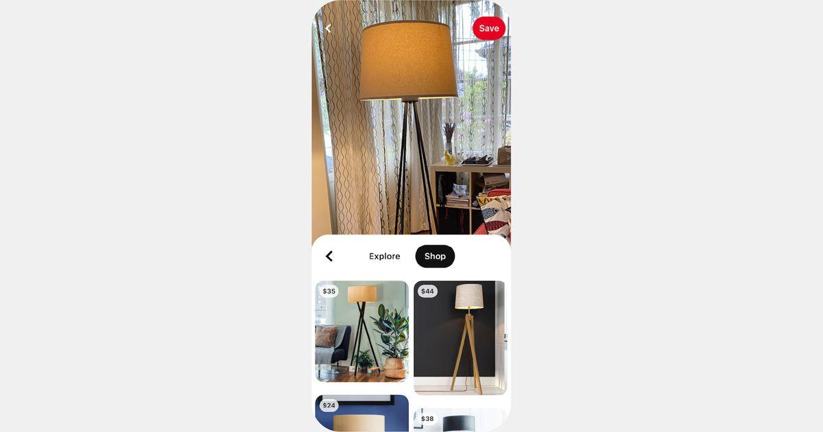 Pinterest ajoute un onglet d'achat aux résultats de Lens, son outil de recherche visuelle