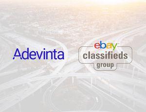 Illustration présentant le logo de Adevinta et celui des petites annonces d'eBay