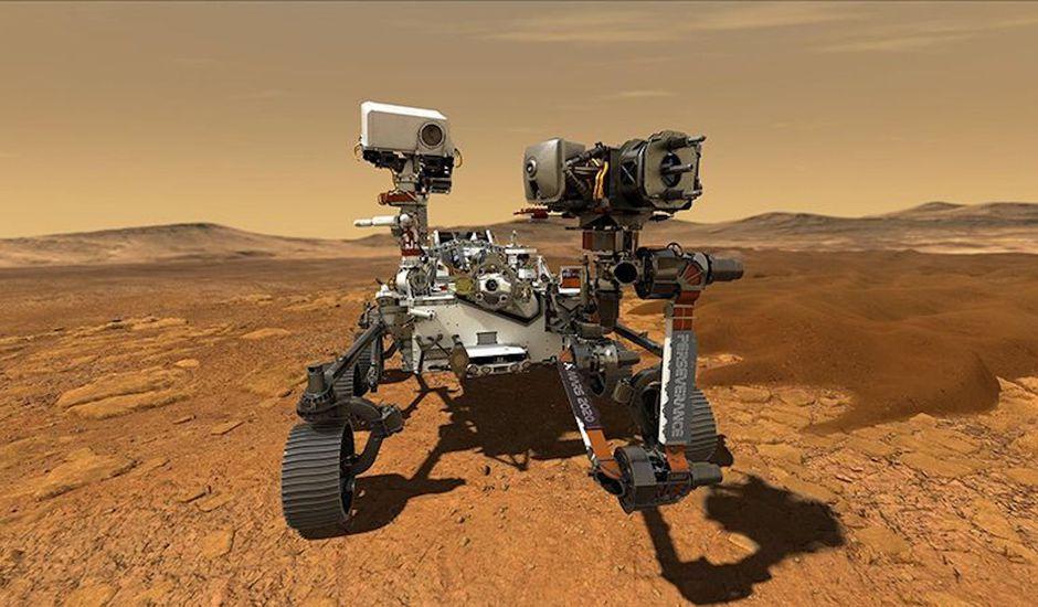Une image de synthèse du Rover Mars Perseverance.