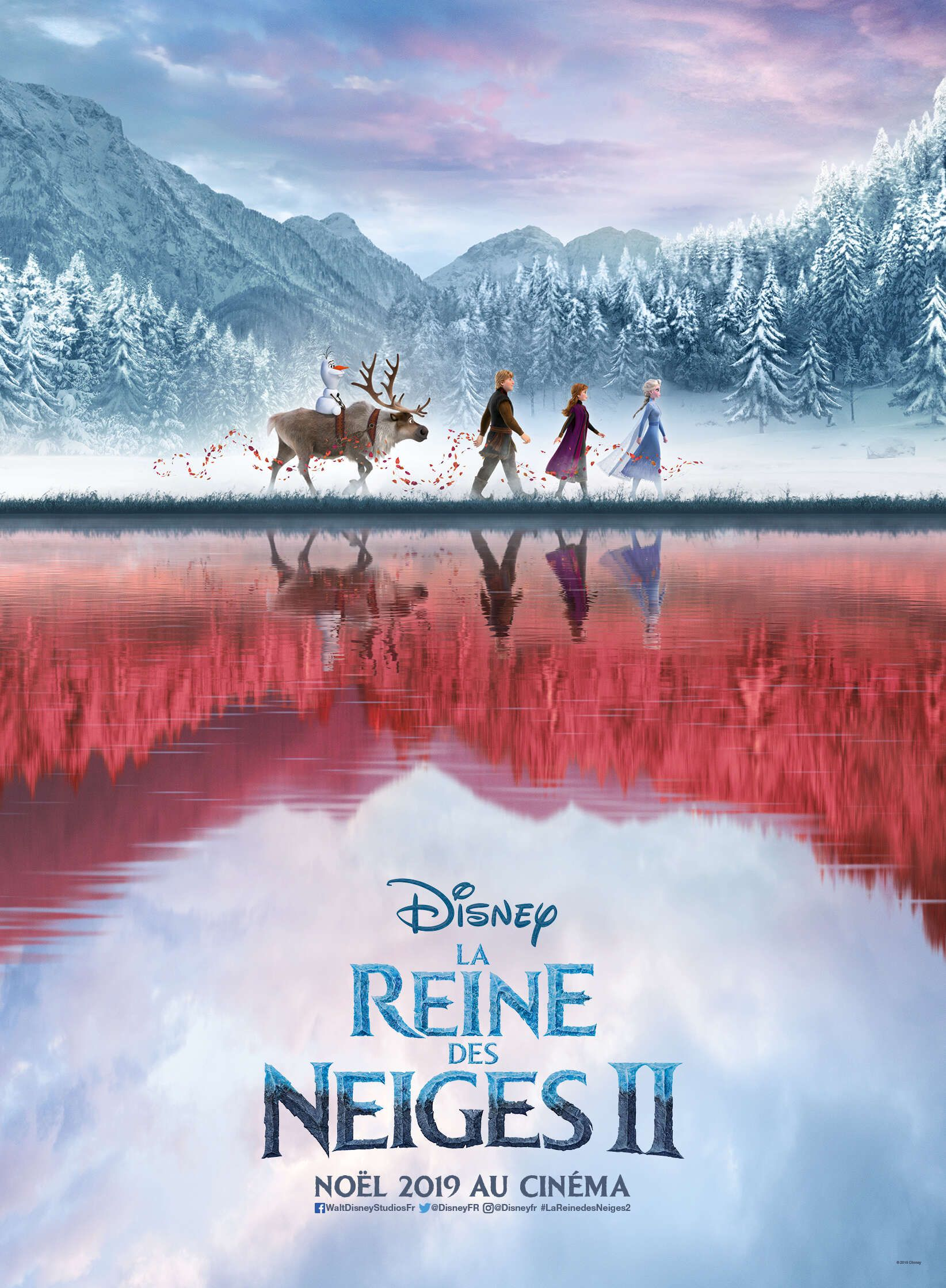 affiche officielle de La Reine des Neiges 2