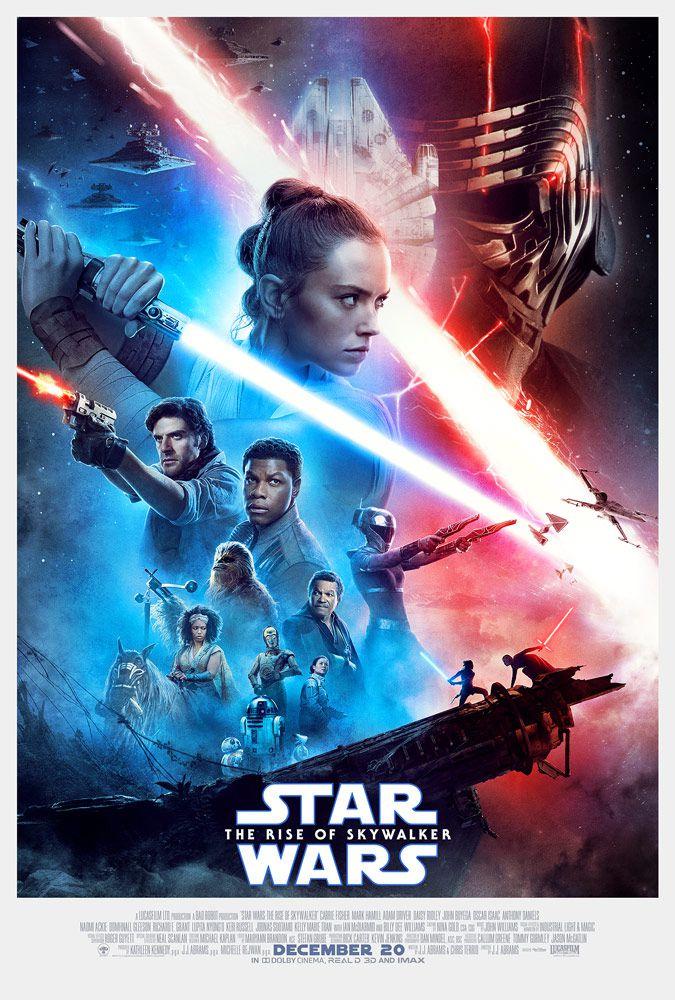 la nouvelle affiche de star wars l'ascension de skywalker