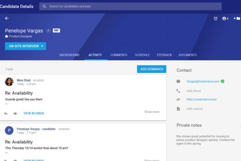 Google Hire le nouvel outil de recrutement par l'IA.