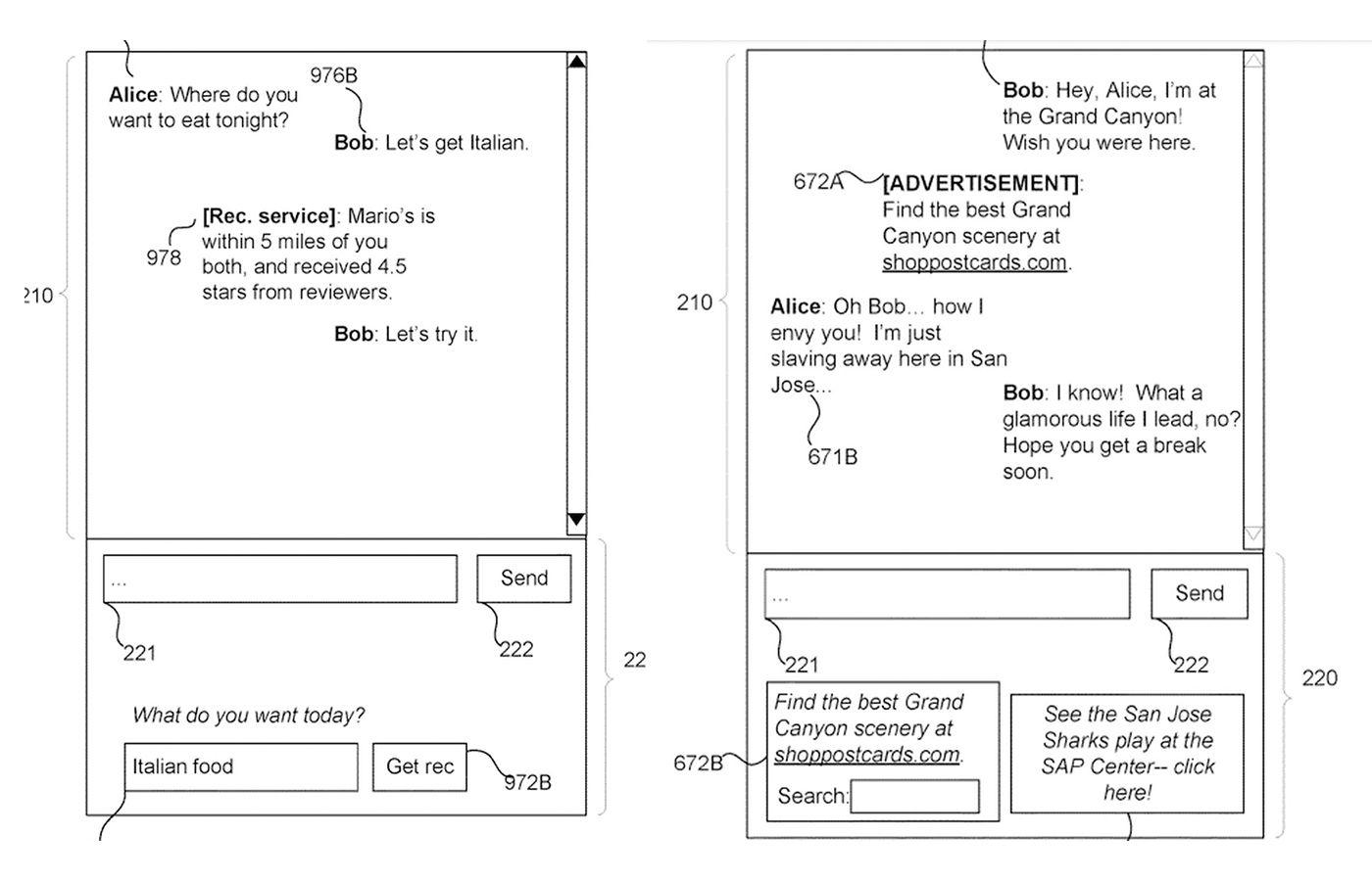 brevet Messenger publicité