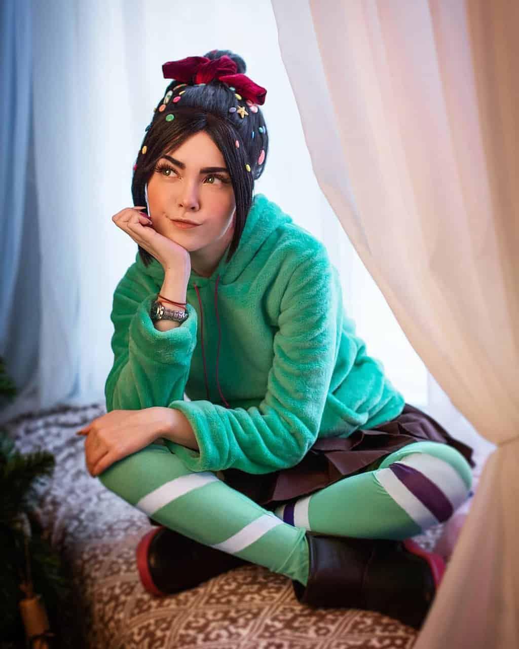 cosplay Vanellope von Schweetz les mondes de ralph