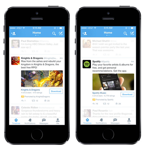 pub twitter application