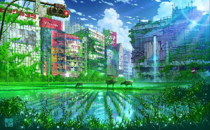 artworks tokyo post-apocalyptique shinjuku